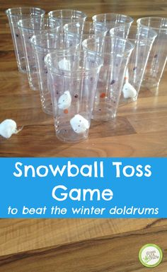 Simple game to keep kids busy during Christmas break! http://www.greenkidcrafts.com/snowball-toss-game/