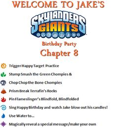 Skylanders Party Games Inspired By Pinterest At Skylands And Beyond Shared Birthday Parties 8th