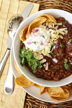 Black Bean and Beef Chili w/ lime and cilantro - Very tasty!  The chili eaters of the family gave it a thumbs up.  It has a nice Tex-Mex flare to it, that is a change of pace from the same ol' chili we usually eat all fall/winter.