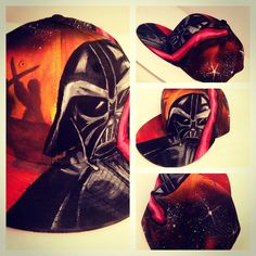 Darth Vadar inspired snapback! by snapbackqueen.com Painted Hats, Snapback, Darth Vader, Inspired, Fictional Characters, Ideas, Fantasy Characters, Thoughts, Baseball Cap