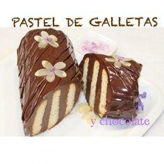 Pastel de galletas y chocolate - MundoRecetas.com