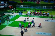 GB v Argentina Wheelchair Basketball Paralympics.  GB 33 - 6 Argentina