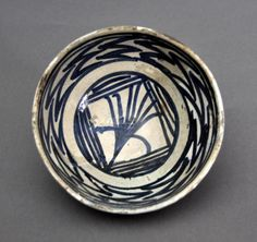 Fund: Valencia   Inventory: FC.1994.02.209   Classification: Tablefurniture   Type: Bowl  Series: Blue   Place name: Paterna  Materials: Painted earthenware  Dimensions: Diameter 12.50 cm  Date: XV Century  Origin: Collection Alberto Folch-Rusiñol