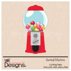 Gumball Machine-scrapbooking and paper craft files SVG Cutting File SVG Cuts silhouette cameo Cricut explore