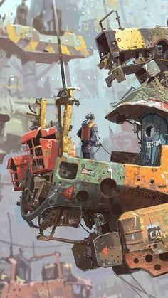 Great Cyberpunk - Anime City concepts for Lego! Cyberpunk Kunst, Cyberpunk Anime, Arte Sci Fi, Sci Fi Art, Environment Concept Art, Environment Design, Science Fiction Kunst, Arte Steampunk, Bg Design