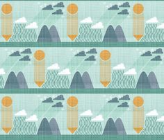 Making Clouds fabric by fox on Spoonflower!