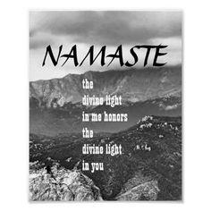 inspirational zen Namaste poster mountain photo #quotes #namaste #senquote