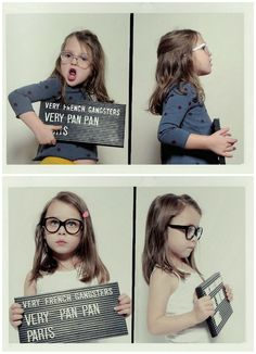 Very French Gangsters / Funky Retro glasses for kids