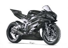 Yamaha R6 Original pencil drawing by Peter Narvis Media:H,2H,HB,B2,B4,B6 Lyra pencils,mechanical Faber&Castle pencils,blending stumps,A4 bristol smooth Time spent:appr. 70 hrs Date of creation:...