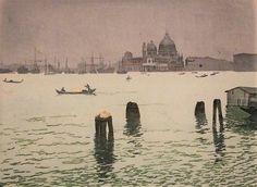 Wimpelkette - Farbholzschnitt - Hans Frank sen. ( ), Venedig