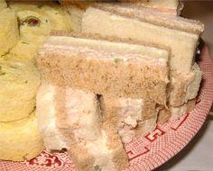 Chicken Salad Ribbon Tea Sandwiches