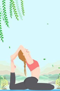 Yoga Background, Background Images, Motion Backgrounds, Simple Backgrounds, Graphic Design Posters, Poster Designs, Simple Background Design, Yoga Cartoon, Pilates