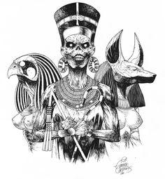Powerslave Black and White by EduardoCardenas.deviantart.com on @DeviantArt