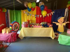 Ella's Caillou birthday party in our playroom!
