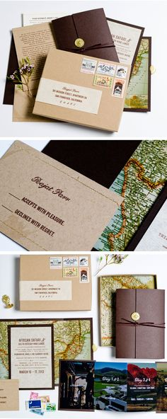 Travel inspired African Safari invitation in a box • Lilly & Louise • www.lillyandlouise.com • photos by Cara Robbins