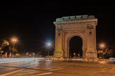 Arch de Triumph Bucharest Bucharest Romania, George Washington Bridge, Bratislava, Night Life, Arch, Wanderlust, Europe, Country, Travel
