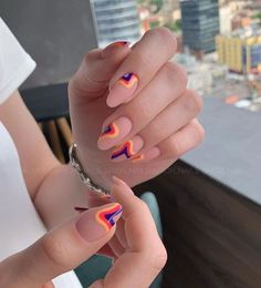 In look for some nail designs and some ideas for your nails? Here is our listing of must-try coffin acrylic nails for cool women. Minimalist Nails, Cute Nail Designs, Acrylic Nail Designs, Orange Nail Designs, Spring Nails, Summer Nails, Nail Design Glitter, Glitter Nails, Aycrlic Nails