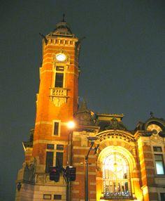横浜市開港記念会館(ジャック)の夜景 みなとみらい 横浜三塔 ナイトビュー レトロ建築
