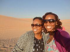 Mother & Daughter on a Desert Safari in Dubai Beautiful Black Women, Dubai, Safari, Traveling, Daughter, Woman, Sunglasses, Fashion, Viajes
