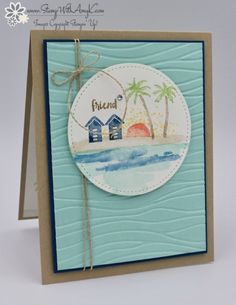 Stampin' Up! Waterfront Beach Card for the Happy Inkin' Thursday Blog Hop – Stamp With Amy K