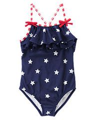 NWT Gymboree Island Flower Tropical Floral One-Piece Swimsuit NEW 12-18 months