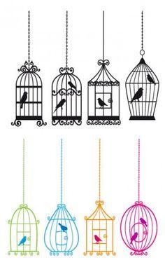 Cute birdcages with birds digital clip-art clipart por Illustree Etiquette Vintage, Bird Cages, Art Clipart, Craft Items, Handmade Crafts, Digital Scrapbooking, Design Elements, Vector Free, Illustration