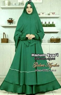 Baju Pesta Muslimah Hanum Syar'i Dress (ready stock and made by order) Niqab, Roberto Cavalli, I Dress, Muslim, Korea, Modern, Dan, Stylish, Dresses