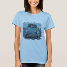 A Beetle in Blue.just for you! T-Shirt - click/tap to personalize and buy Beetle, Shirt Style, Your Style, Shirt Designs, Just For You, Cars, Mens Tops, T Shirt, Blue