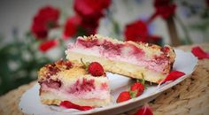 Strawberry Cheesecake Bars Ingredients 1 box Duncan Hines® Signature French Vanilla Cake Mix ½ cup butter, melted 3 large eggs, divided 1 package oz) cream cheese 2 cups plus 2 Tbsp. confectioner's sugar 1 can oz) Duncan Hines Comstock® Strawberry Strawberry Cheesecake Bars Recipes, Strawberry Poke Cakes, Strawberry Recipes, Strawberry Bars, Cheescake Bars, Canned Strawberry Pie Filling Recipe, Cherry Cheescake, Fruit Cheesecake, Blackberry Cake