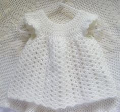 Crocheted Baby Dress Pinafore Infant Girl Baby by RaeOfLight, $19.95