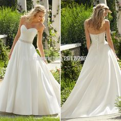 Find More Wedding Dresses Information about Custome 2015 Simple A Line Wedding Dresses with Fashion Pocket Beading Sashes Vestidos De Festa Vestido Longo Floor Length Weddi,High Quality dress performance,China wedding vase Suppliers, Cheap dress clothes for teens from JS Wedding Apperal Manufactory on Aliexpress.com