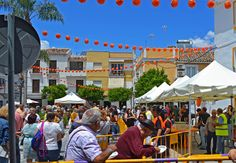 An annual orange festival is held in May in the small town of Coín (Málaga) - Spain. Malaga Spain, Andalusia, Small Towns, Countryside, Coins, Street View, Orange, Sevilla Spain, Rooms