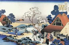 Traditional Japanese art Title: Workday in a Small Town Artist: Katsushika Hokusai Type: Fine-Art Print Paper Size: x Japanese Painting, Chinese Painting, Chinese Art, Haiku, Traditional Japanese Art, Katsushika Hokusai, Reproduction, Japanese Prints, Japan Art