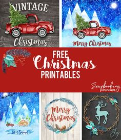 Free Christmas Printables by Ellabella Designs Christmas Wall Art, Christmas Signs, Christmas Pictures, Christmas Projects, Holiday Crafts, Holiday Fun, Vintage Christmas, Christmas Holidays, Christmas Decorations
