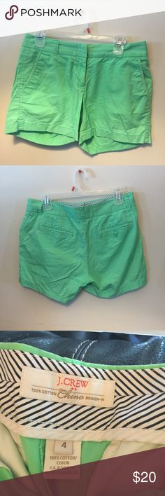 J. Crew chino shorts! Super cute green color, great condition! Size 4 J. Crew Shorts
