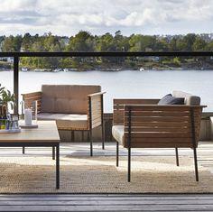 Outdoor Cocktail Table | Haringe Collection | Teak & Steel ...