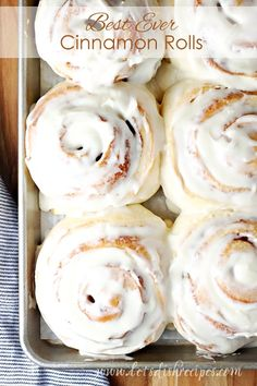 Best Ever Cinnamon Rolls: Huge fluffy cinnamon rolls with maple cream cheese frosting that stay soft for days. They really are the best ever!