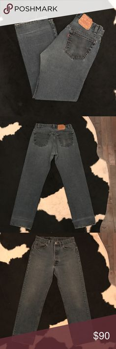 """Rare Vintage 501 Levi's jeans Iconic vintage 501 Levi's jeans. Marked 32"""" waist but is actually 30"""" best fit for a modern jean size 28-30 depending on desired fit. Perfectly distressed and groovy, a very interesting medium/dark-wash. Very rare wash!!!! Levi's Jeans Straight Leg"""