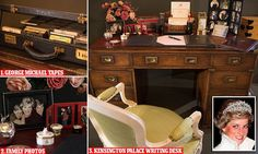 From tomorrow, visitors to Buckingham Palace's summer opening will find that one room contains a replica of the late Princess's study, her desk (pictured) laid out as her sons like to remember it.