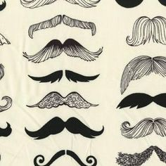 Where's my 'Stache fabric, totally want to make a dress with this.