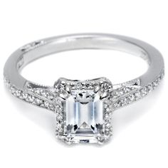 Pave Design, Tacori emerald cut