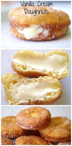 Gluten Free vanilla Cream Doughuts - Sweet gluten free treats that will knock your socks off.....Not so healthy, not low calorie. Click here for more healthy, delicious gluten free recipes from The Cave Woman. http://www.goingcavewoman.com/gluten-free-vanilla-cream-doughuts #doughnuts #GlutenFree