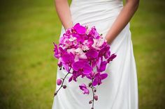 Real wedding by Divine Weddings Events - Nadia and Dean - pink phalaenopsis bouquet. Photo by Carleigh Babiak Photography Orchid Bouquet Wedding, Floral Wedding, Wedding Flowers, Summer Wedding, Our Wedding, Wedding Ideas, Wedding Stuff, Wedding Inspiration, Pretty Flowers