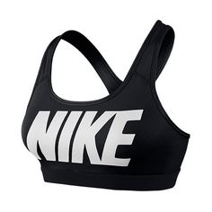 Women's Nike Pro Core Classic Logo Sports Bra ($21) ❤ liked on Polyvore featuring activewear, sports bras, tops, sport, nike, bras, black sports bra, sports bra, logo sportswear and nike activewear