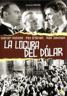 Gavin Gordon and Walter Huston in American Madness Frank Capra Movies, Kay Johnson, Streaming Movies, Cinema, American, Movie Posters, Madness, Social, Carrera