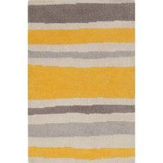 Surya Abigail Lemon/Gray Striped Rug