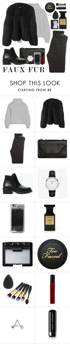 """fur"" by mmwdxx ❤ liked on Polyvore featuring Iris & Ink, Balenciaga, Citizens of Humanity, Yves Saint Laurent, Zara, CLUSE, LMNT, Tom Ford, NARS Cosmetics and NYX"