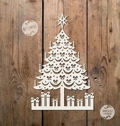 SVG / PDF Christmas Tree Design by TommyandTillyDesign on Etsy
