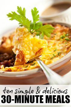 Ten simple 30-minute meals