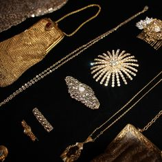 Behind the scenes look at costume jewellery and bags from Miss Fisher Series 3, on display at the latest Costume Exhibition